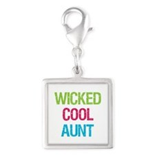 WickedCoolAunt.png Silver Square Charm