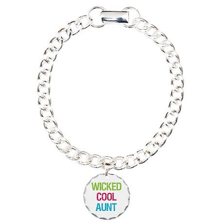 WickedCoolAunt.png Charm Bracelet, One Charm