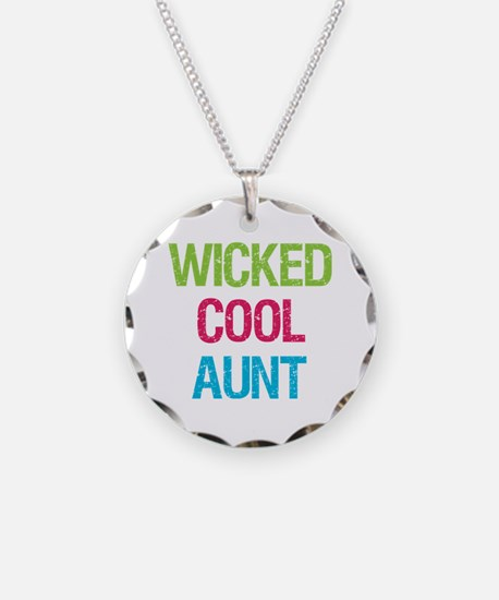 WickedCoolAunt.png Necklace Circle Charm