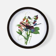 Pierre-Joseph Redoute Botanical Wall Clock