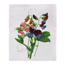 Pierre-Joseph Redoute Botanical Throw Blanket