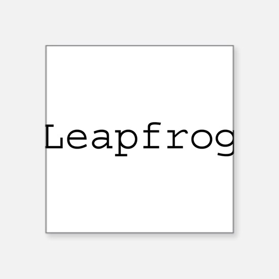 "leapfrog.png Square Sticker 3"" x 3"""