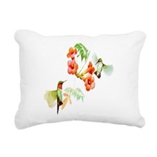 Unique Ruby throated hummingbird Rectangular Canvas Pillow