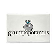 Grumpy Hippo Rectangle Magnet (10 pack)