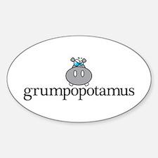 Grumpy Hippo Decal