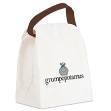 Grumpy Hippo Canvas Lunch Bag
