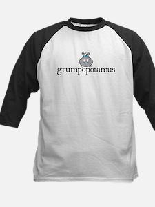 Grumpy Hippo Kids Baseball Jersey