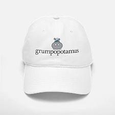 Grumpy Hippo Baseball Baseball Cap