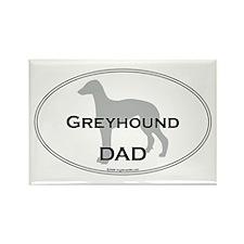 Greyhound DAD Rectangle Magnet