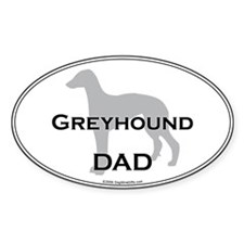 Greyhound DAD Oval Decal