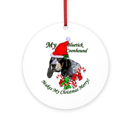 Bluetick Coonhound Ornament (Round)
