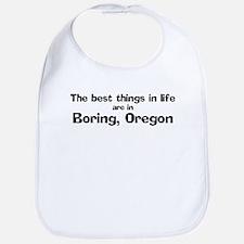 Boring: Best Things Bib