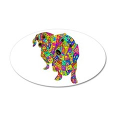 Designed Color Doxies 20x12 Oval Wall Decal