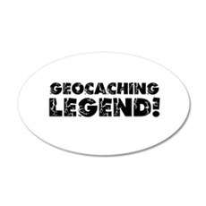 Geocaching Legend 35x21 Oval Wall Decal