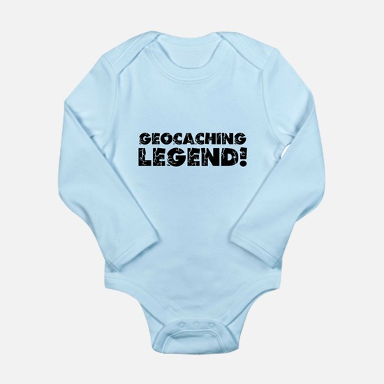 Geocaching Legend Long Sleeve Infant Bodysuit