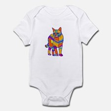 Stripped Cat Infant Bodysuit
