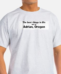 Adrian: Best Things Ash Grey T-Shirt