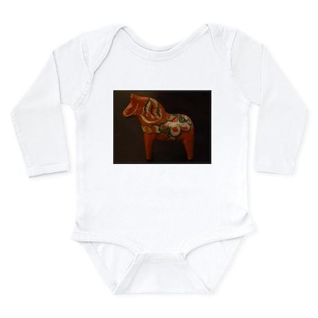 Dala Horse Foundation Long Sleeve Infant Bodysuit
