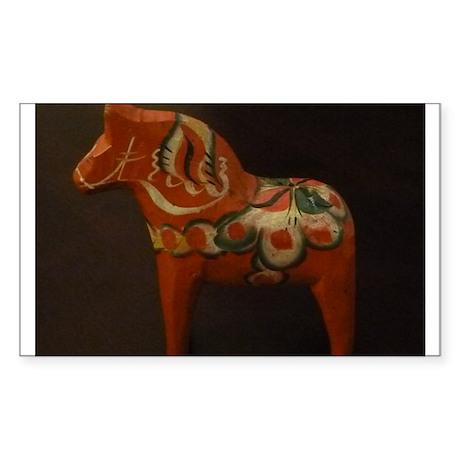 Dala Horse Foundation Sticker (Rectangle)