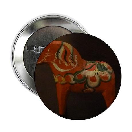 "Dala Horse Foundation 2.25"" Button"