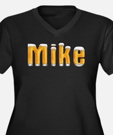 Mike Beer Women's Plus Size V-Neck Dark T-Shirt