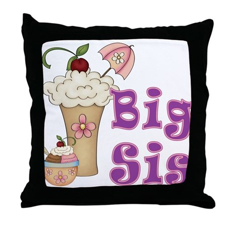 Big Sis Ice Cream Throw Pillow by MyMemaws