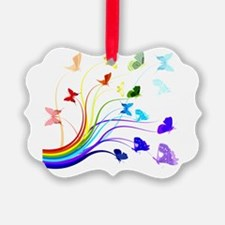 Butterflies and Rainbows Ornament