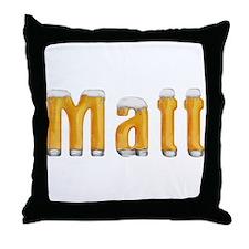 Matt Beer Throw Pillow
