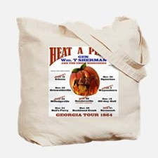 Gen. Sherman 'Heat a Peach' Tote Bag