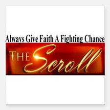 """The Scroll Square Car Magnet 3"""" x 3"""""""