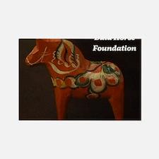 Dala Horse Foundation Rectangle Magnet