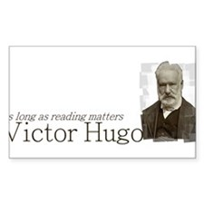 Victor Hugo as long as reading matters Decal