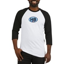 Hampton Beach NH - Oval Design. Baseball Jersey
