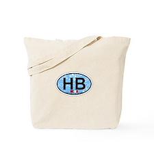 Hampton Beach NH - Oval Design. Tote Bag