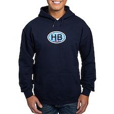 Hampton Beach NH - Oval Design. Hoodie