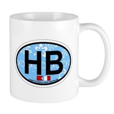 Hampton Beach NH - Oval Design. Mug