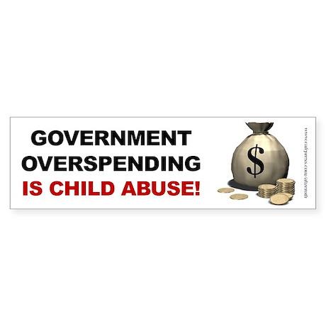 Overspending Child Abuse, Sticker (Bumper)