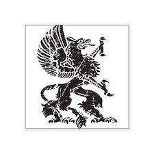 """Griffin (Grunge Texture) Square Sticker 3"""" x 3"""""""
