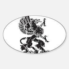 Griffin (Grunge Texture) Sticker (Oval)