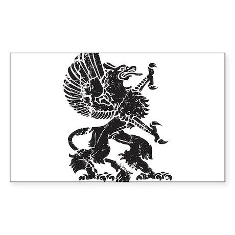 Griffin (Grunge Texture) Sticker (Rectangle)