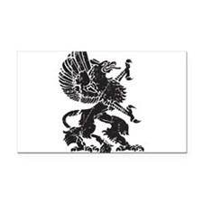 Griffin (Grunge Texture) Rectangle Car Magnet