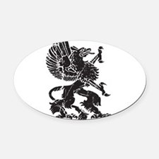 Griffin (Grunge Texture) Oval Car Magnet