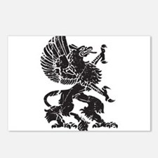 Griffin (Grunge Texture) Postcards (Package of 8)