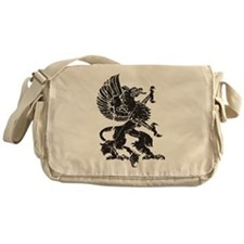 Griffin (Grunge Texture) Messenger Bag