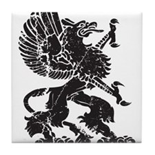 Griffin (Grunge Texture) Tile Coaster