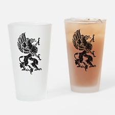 Griffin (Grunge Texture) Drinking Glass