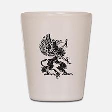 Griffin (Grunge Texture) Shot Glass