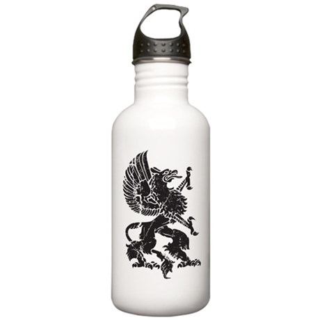 Griffin (Grunge Texture) Stainless Water Bottle 1.