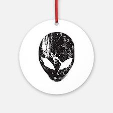 Alien Head (Grunge Texture) Ornament (Round)