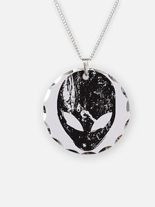 Alien Head (Grunge Texture) Necklace